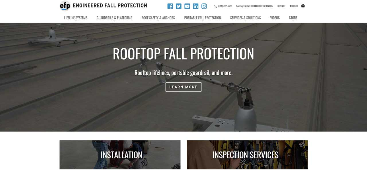 Engineered Fall Protection Website