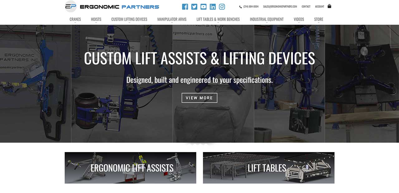 Ergonomic Partners Website